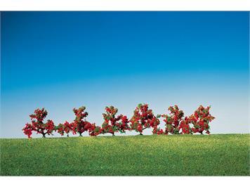 Faller 181476 6 Büsche rotblühend