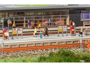 Faller 222111 Moderner Bahnsteig mit Zubehör N