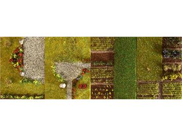 Faller PREMIUM Landschafts-Segment Kleingärten I HO/N