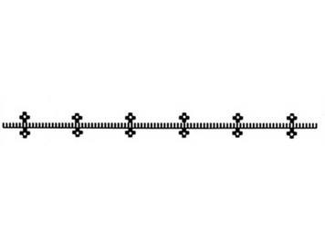 Fleischmann 6412 Flexible Zahnstange für Profi-Gleis, Länge 200 mm, H0