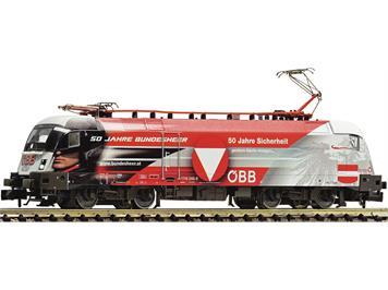 "Fleischmann 781373 Elektrolokomotive Rh 1116 246-8 ""50 Jahre Bundesheer"" ÖBB dig./Sound"