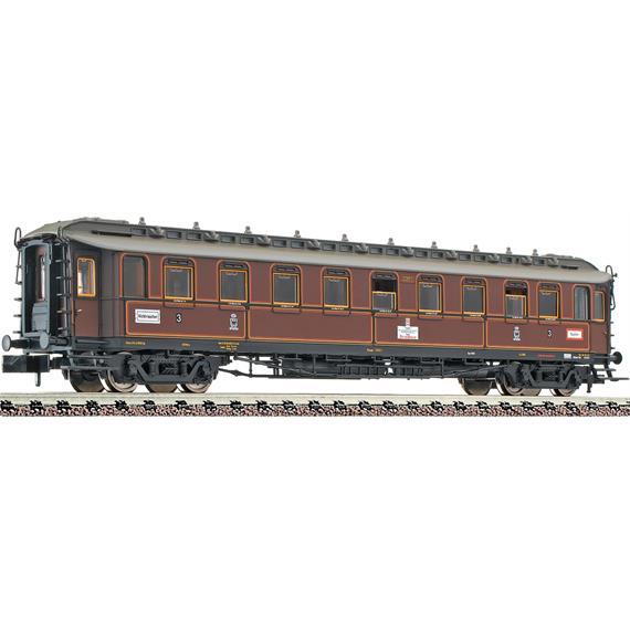 Fleischmann 808302 4-achsiger Schnellzugwagen 3. Kl. Bauart C 4ü (pr08), K.P.E.V.