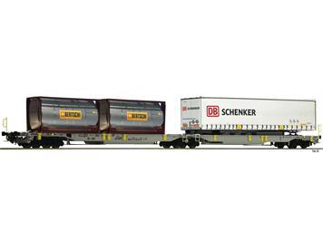 """Fleischmann 825004 Doppeltaschen-Gelenkwagen T2000 AAE """"Bertschi & Schenker"""" N"""
