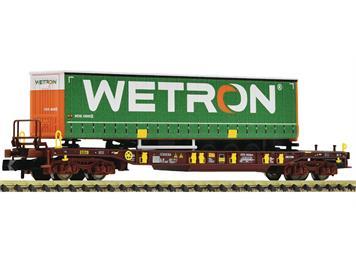 Fleischmann 825057 Taschenwagen WETRON, Bauart Sdgmns 33, der Ahaus-Alstätter Eisenbahn, N