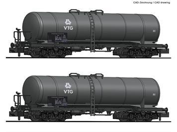 Fleischmann 825810 2-tlg. Set: Kesselwagen, VTG, N (1:160)