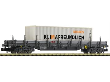 """Fleischmann 828823 Rungenwagen mit MIGROS-Container """"pour le climat"""", SBB N"""