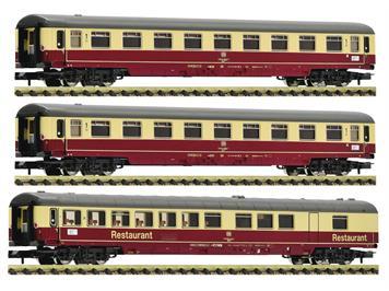 """Fleischmann 881912 3tlg. Wagenset 2: Autoreisezug """"Christoforus-Express"""" DB, N"""