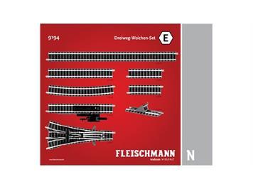 Fleischmann 9194 3-Weg-Weichen-Set E, Spur N