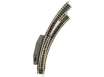 Fleischmann Bogenweiche mit Elektroantrieb und stromleitendem Herzstück rechts