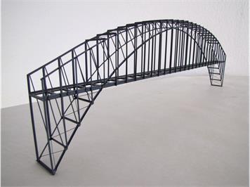 HACK 23140 N Bogenbrücke 50 cm grau BN50, Fertigmodell aus Weissblech