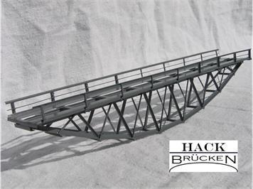 HACK 43100 Z Fischbauchbrücke 18 cm BZ18 Fertigmodell aus Weissblech