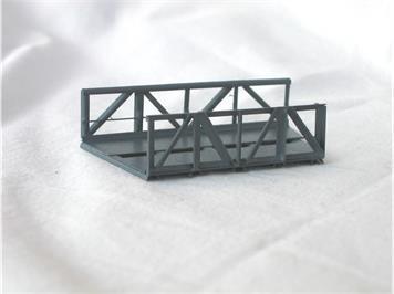 HACK 46100 Z Kurvenelement R=145mm, 22,5° RZB Fertigmodell aus Weissblech