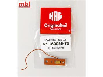 HAG 160059-75 Zwischenplatte zu Schleifer, H0
