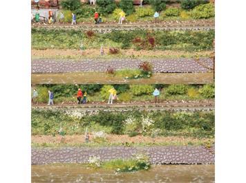 HEKI 100 Grasbüschel gelb-rot gemischt