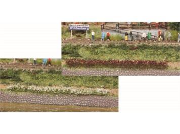 HEKI 1815 10 Grasstreifen erika-weiss gemischt 10 cm