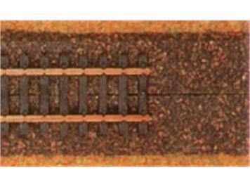 Heki 3198 Korkgleisbett dunkel HOm 1 Meter