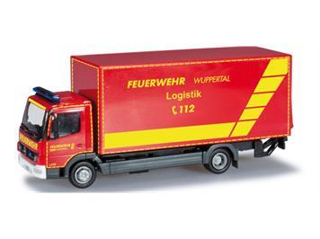 """Herpa 091435 Mercedes-Benz Atego Koffer-LKW mit Ladebordwand """"Feuerwehr Wuppertal, GW Log."""