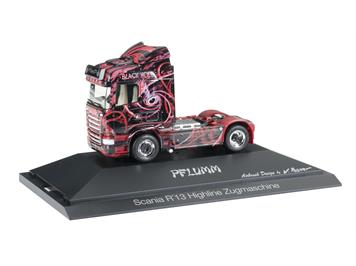 "Herpa 110808 Scania R '13 TL Zugmaschine ""The Black Hole / Pflumm"""