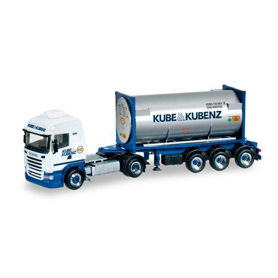 """Herpa 303927 Scania R 13 TL Gascontainer-Sattelzug """"Kube & Kubenz"""""""