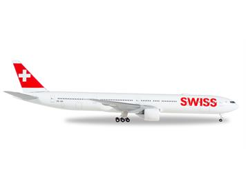 Herpa 529136-001 B777-300ER Swiss International Airlines Boeing 777-300ER HB-JNF 1:500