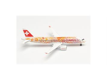 Herpa 533584 SWISS International Air Lines Airbus A220-300 Fete Des Vignerons