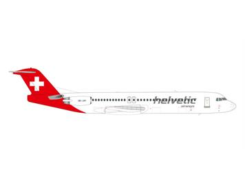 Herpa 559324 Helvetic Airways Fokker 100 1:200