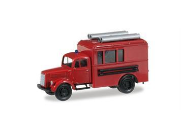 Herpa 745024 MB Koffer-LKW mit Dachbeladung HO