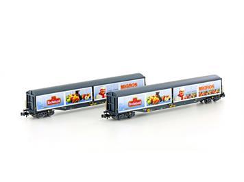 """Hobbytrain 23456 SBB Schiebewandwagen """"Migros"""" Habils 2teilig N"""