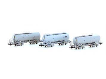 "Hobbytrain 23480 SBB Staubsilowagen UACS ""SBB Cargo"" 3er Set N"
