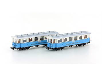 "Hobbytrain H43101 Personenwagen-Set ""Zugspitzbahn"" 2er Set HOm"