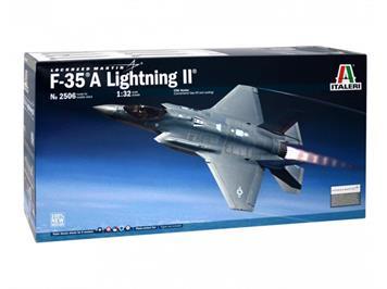 Italeri 2506 F-35 A Lightning II Lockheed Martin CTOL Version mit 6 Decal-Vers. 1:32