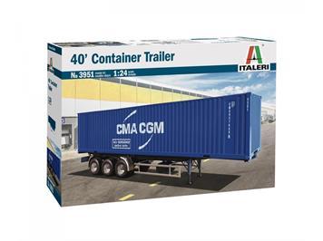 Italeri 3951 Container Auflieger 40 Ft, 1:24