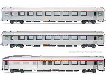 """Jouef 4144 3-tlg. Set """"TEE L'Arbalète"""" Reisezugwagen der SNCF, Epoche IV, H0 (1:87)"""