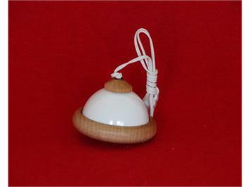 Kahlert 10568 Kunststoffschirm weiss mit Holzrand, klein
