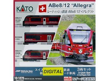 "Kato 10-1273D (Noch 7074026) ABe 8/12 #3508 ""Allegra, Richard Coray"" 3teilig digital, N"