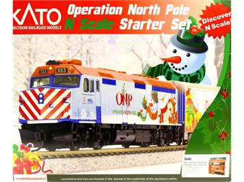 Kato 106-0035 Operation North Pole Christmas Train (701062016A) N