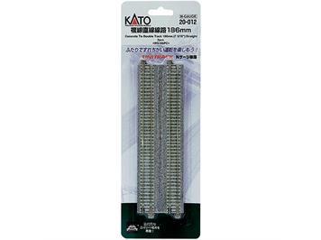 Kato 20-012 (78020) Doppelgleis Beton gerade 186 mm (2 Stk.)