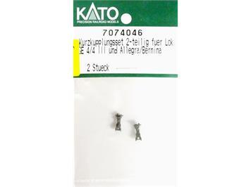 Kato 7074046 Kurzkupplungsset 2-teilig für Lok Ge 4/4 II und Allegra/Bernina, N