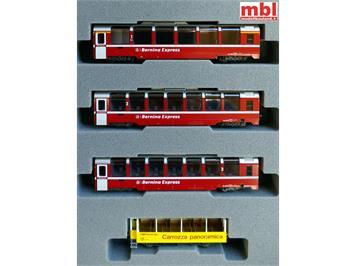 Kato 7074057 (10-1656) Bernina-Express 4-teiliges Wagenset, N 1:160