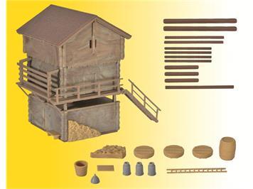 Kibri 38035 Stall und Stadel, H0 (1:87)