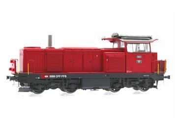 L.S. Models 17568S Diesellok Bm 4/4 feuerrot mit Signum und Kamin SBB AC/Sound HO
