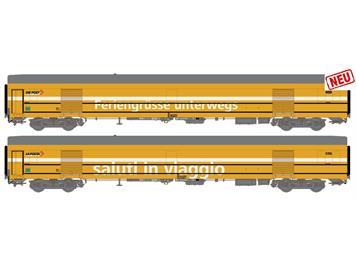 L.S.Models 97204 PTT 2er Set Postwagen ex SNCF Ep V DC