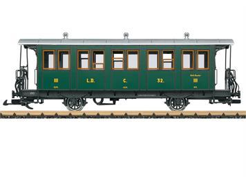 LGB 30341 Landquart-Davos-Bahn (L.D.) Personenwagens 3. Klasse C 32, Spur G IIm (1:22,5)