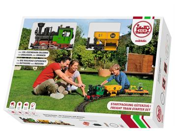 LGB 70403 Startset Güterzug mit Dampflokgeräusch und Dampfentwickler, G IIm