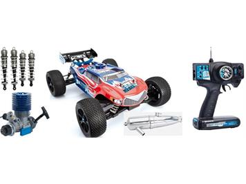 LRP 131511 LRP S8 Rebel TX 2,4 GHz RTR 1:8 Verbrenner Truggy blue edition