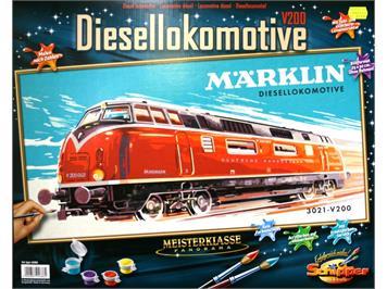 "Märklin 15966 Malen nach Zahlen ""3021 - V200 Diesellokomotive"""