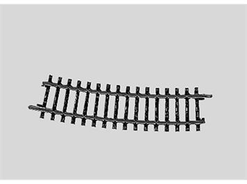 Märklin 2233 Gleis gebogen, Länge 1/2 = 15°.