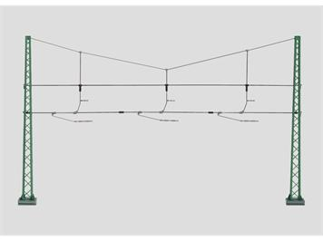 Märklin 74131 Quertragwerk für 3 Geleise, H0
