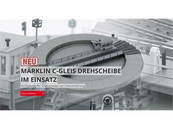 Märklin 74861 C-Gleis Drehscheibe, fx mfx DCC, H0 (1:87)