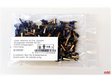 Märklin E115737 Kupplungskopf stromführend 1-polig, 50 Stück, H0 (1:87)